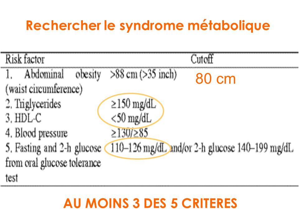 Rechercher le syndrome métabolique