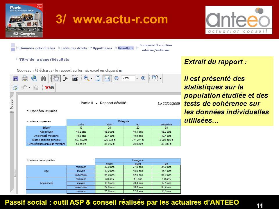 3/ www.actu-r.com Extrait du rapport :