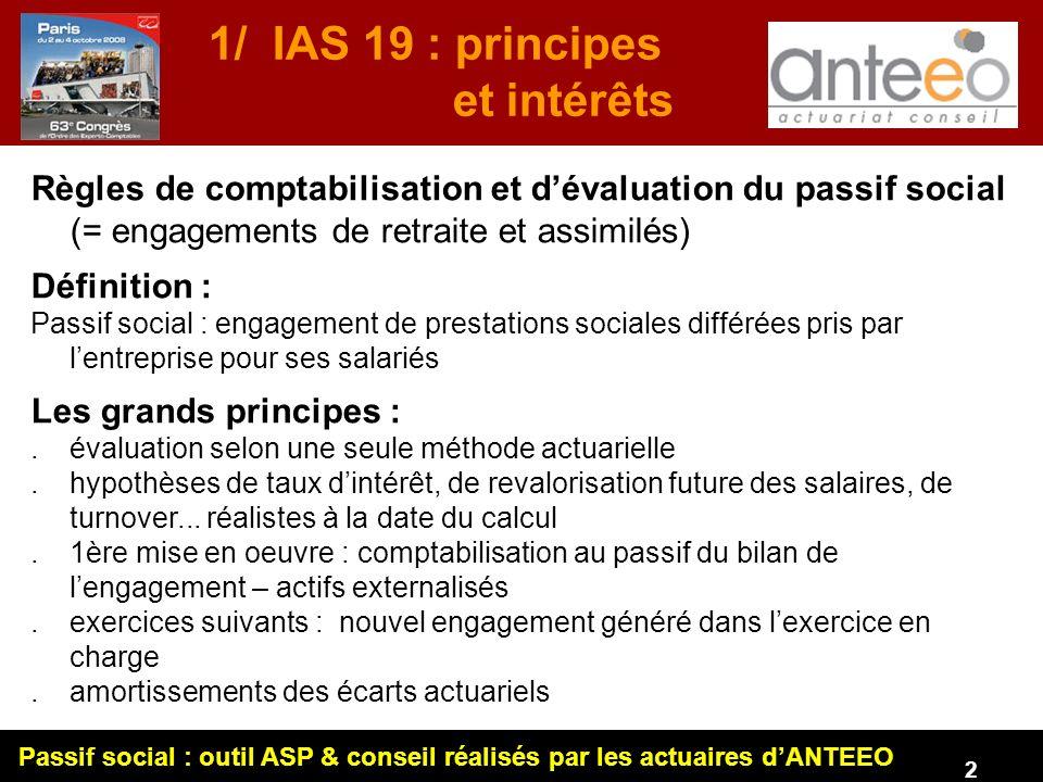 1/ IAS 19 : principes et intérêts