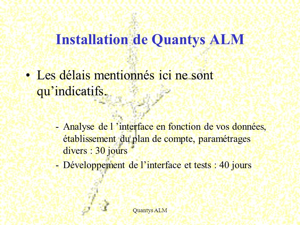 Installation de Quantys ALM