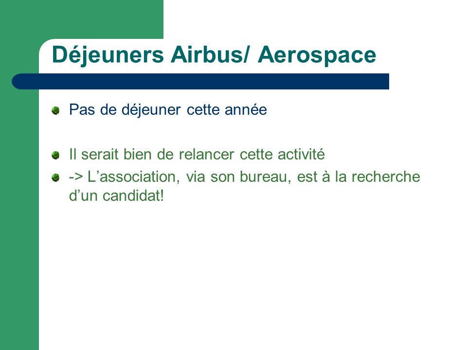 Déjeuners Airbus/ Aerospace