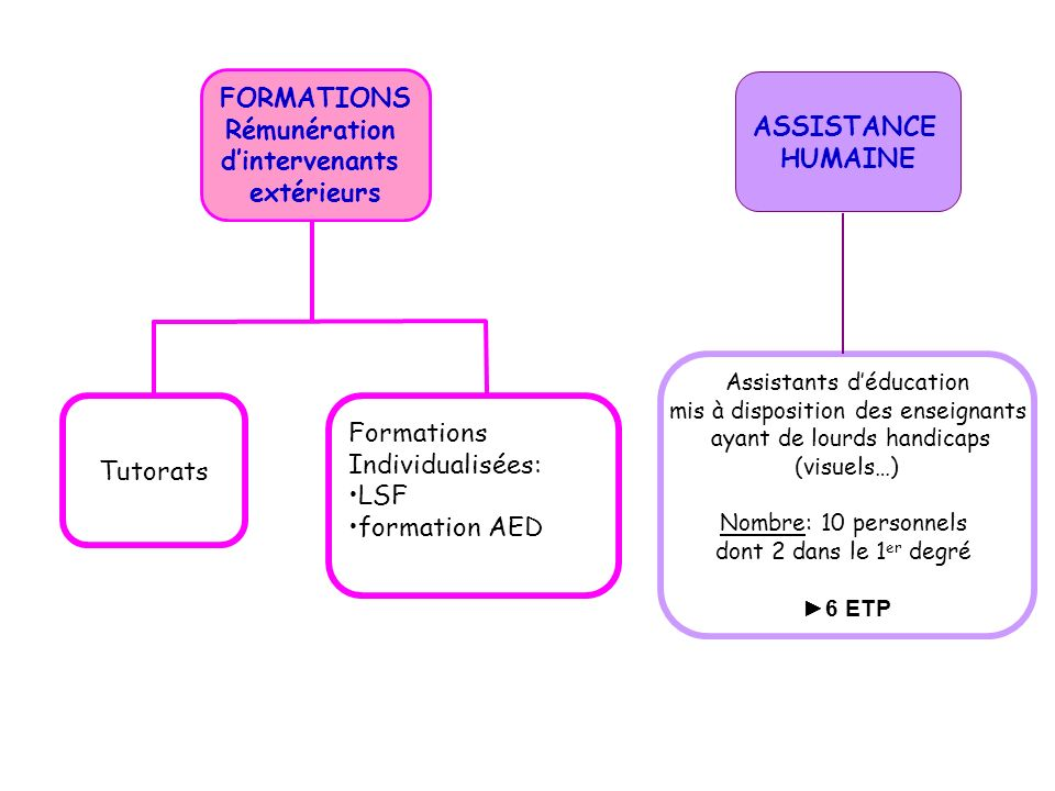 ASSISTANCE HUMAINE Formations Tutorats Individualisées: LSF