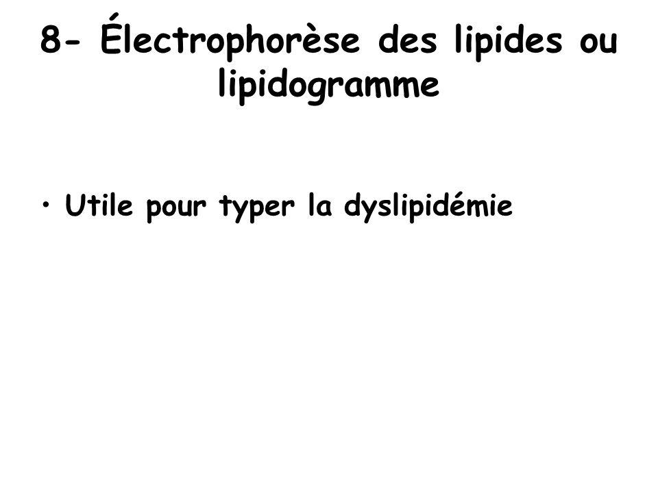 8- Électrophorèse des lipides ou lipidogramme