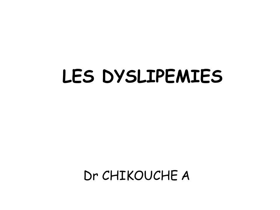 LES DYSLIPEMIES Dr CHIKOUCHE A