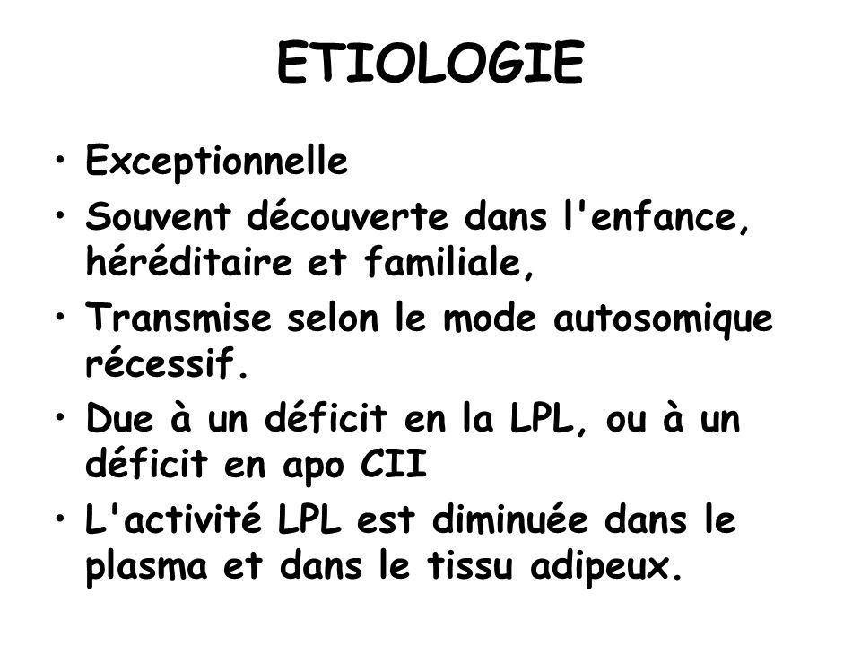 ETIOLOGIE Exceptionnelle