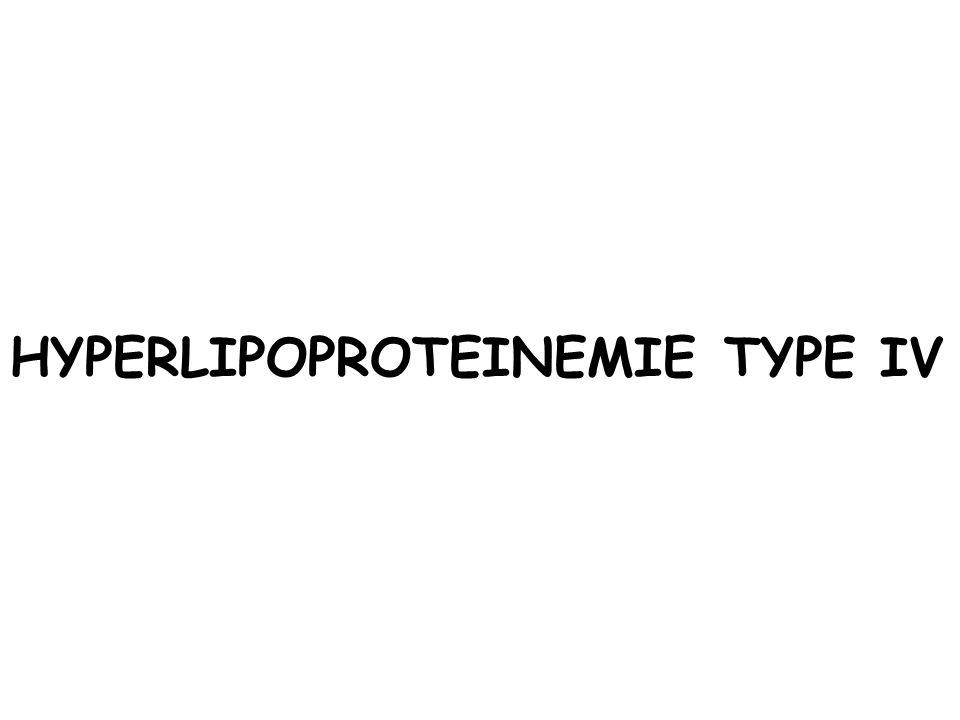 HYPERLIPOPROTEINEMIE TYPE IV
