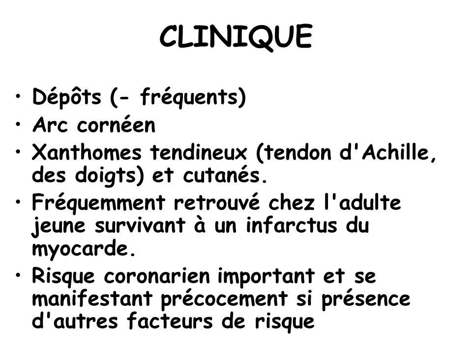 CLINIQUE Dépôts (- fréquents) Arc cornéen