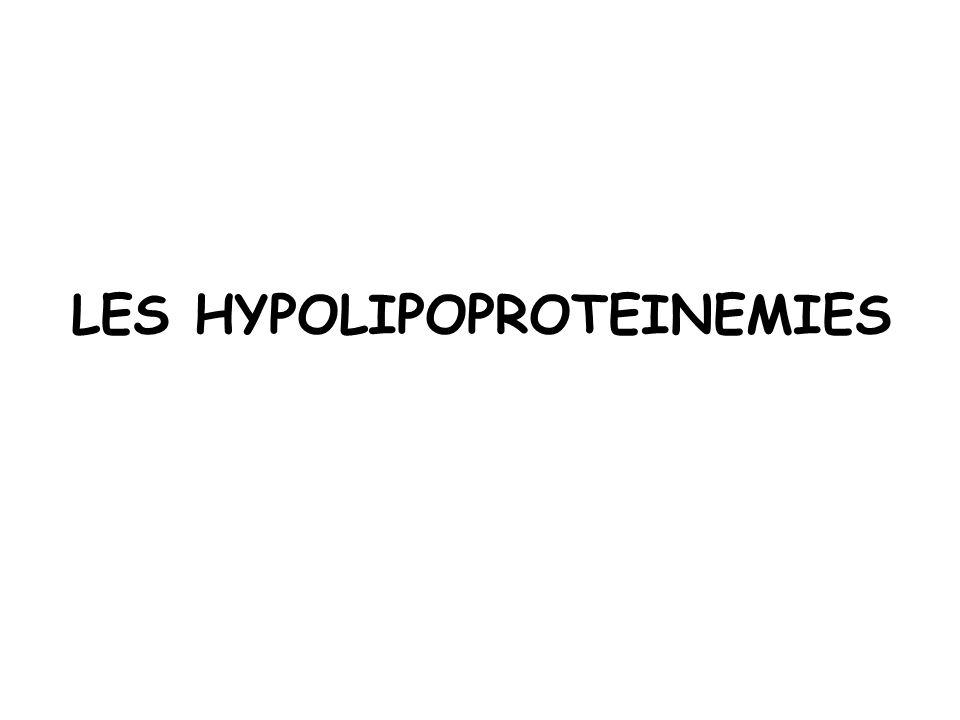 LES HYPOLIPOPROTEINEMIES