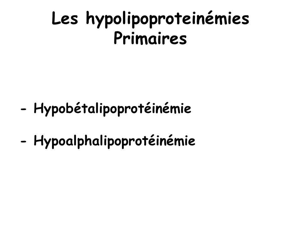 Les hypolipoproteinémies Primaires