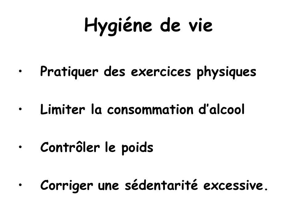 Hygiéne de vie Pratiquer des exercices physiques