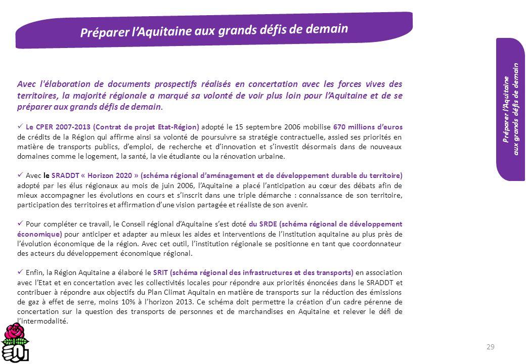 Préparer l'Aquitaine aux grands défis de demain