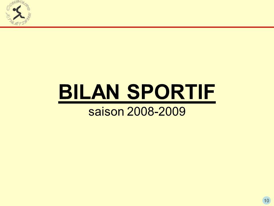 BILAN SPORTIF saison 2008-2009