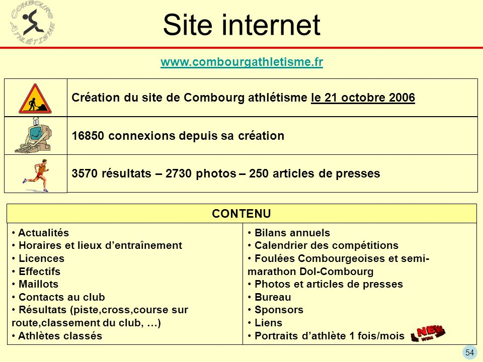 Site internet www.combourgathletisme.fr