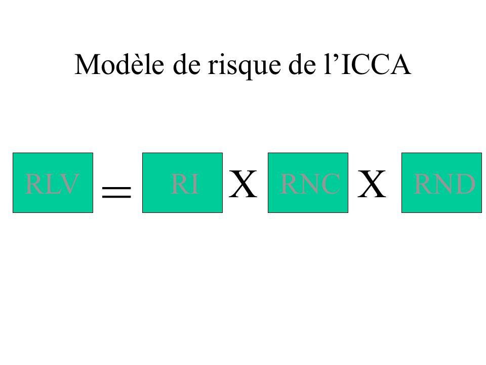 Modèle de risque de l'ICCA