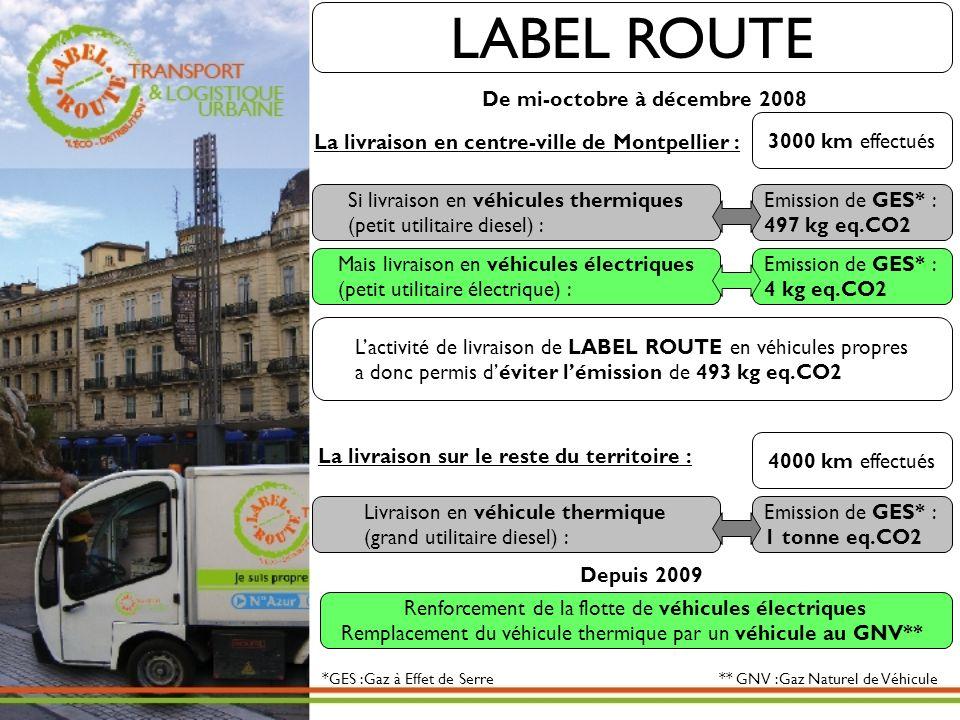 LABEL ROUTE De mi-octobre à décembre 2008 3000 km effectués