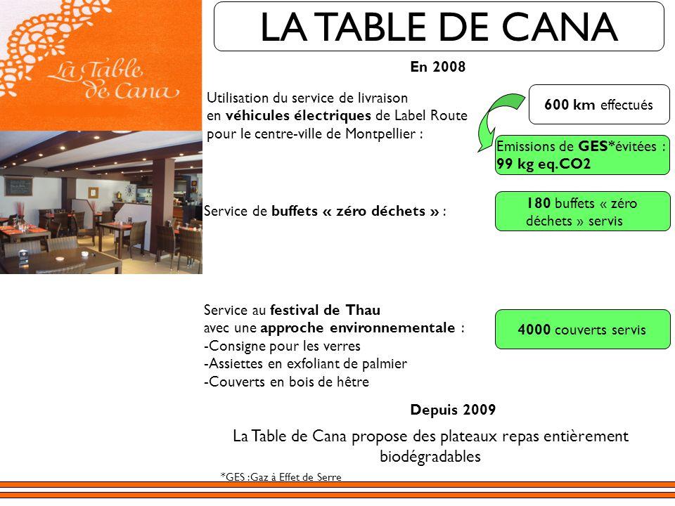 La Table de Cana propose des plateaux repas entièrement biodégradables