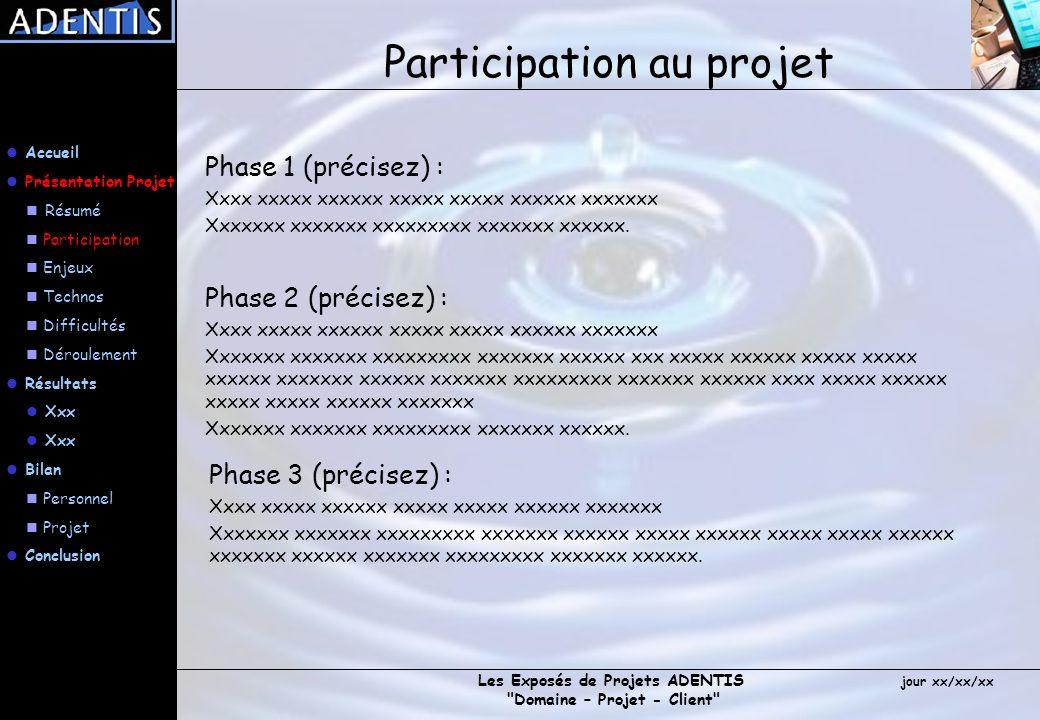 Participation au projet