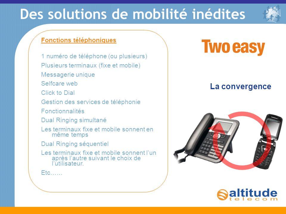 Des solutions de mobilité inédites