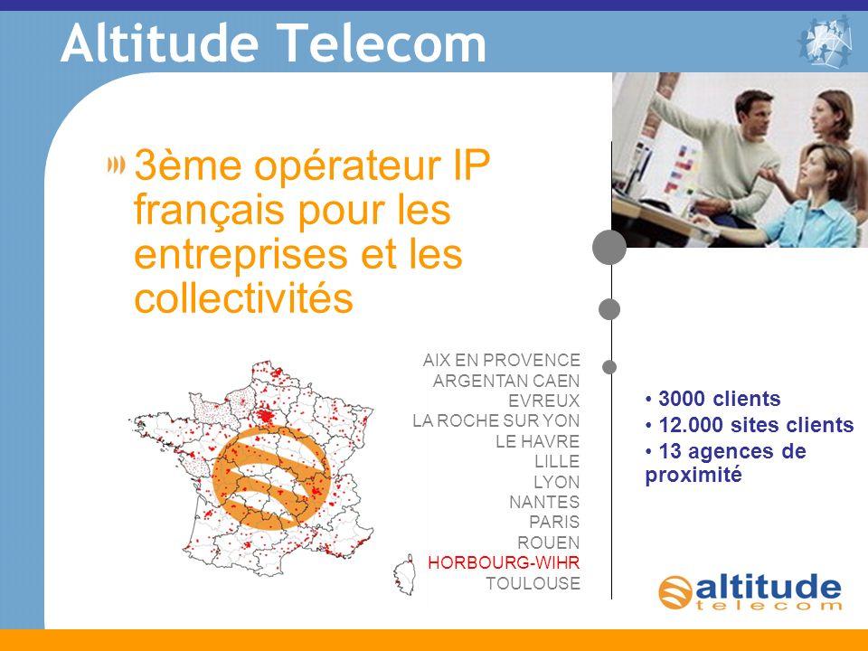 Altitude Telecom 3ème opérateur IP français pour les entreprises et les collectivités. AIX EN PROVENCE ARGENTAN CAEN.