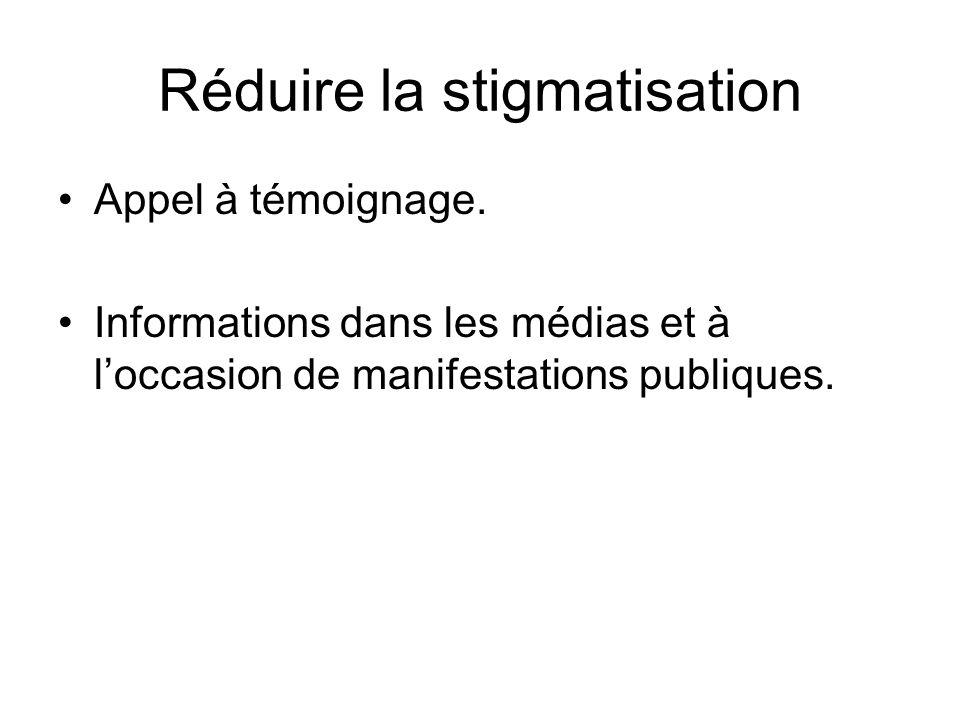 Réduire la stigmatisation