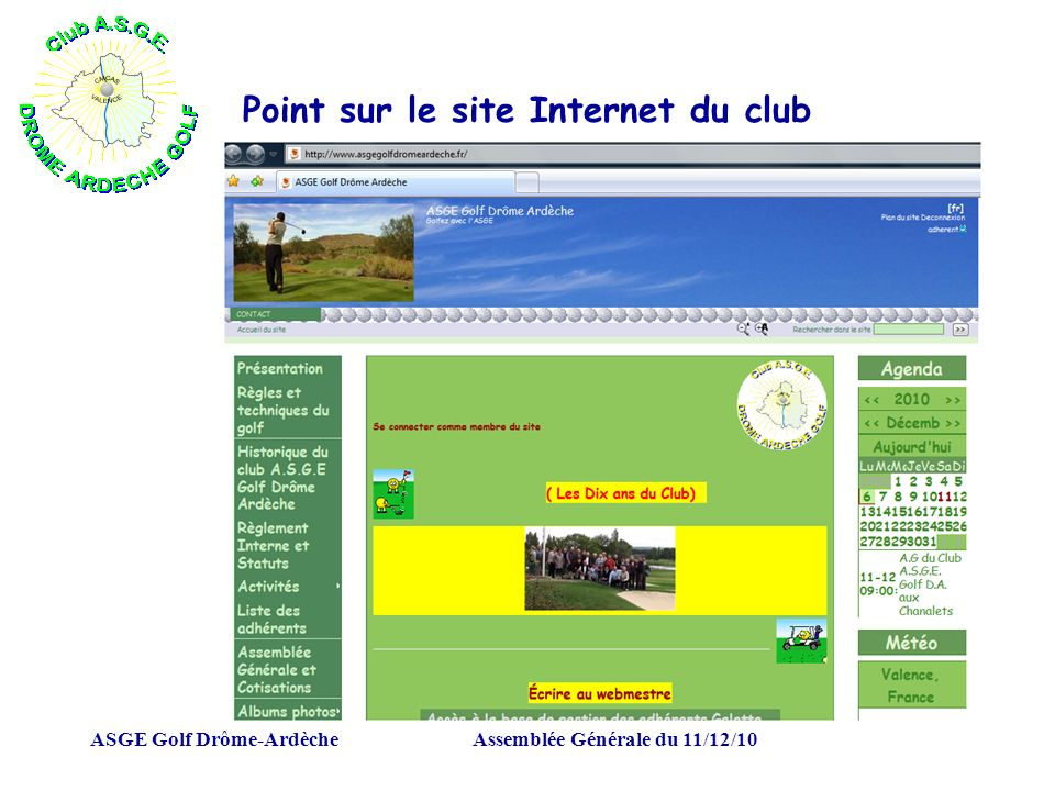 Point sur le site Internet du club