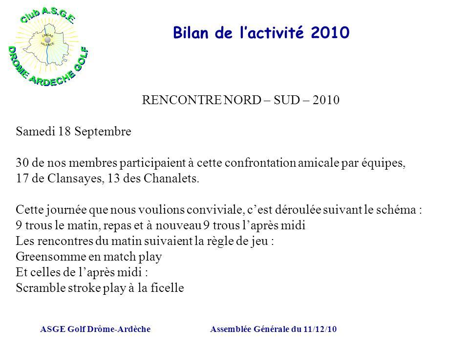 Assemblée Générale du 11/12/10
