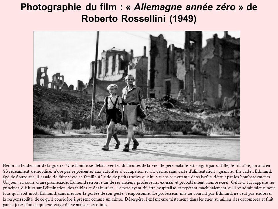 Photographie du film : « Allemagne année zéro » de Roberto Rossellini (1949)