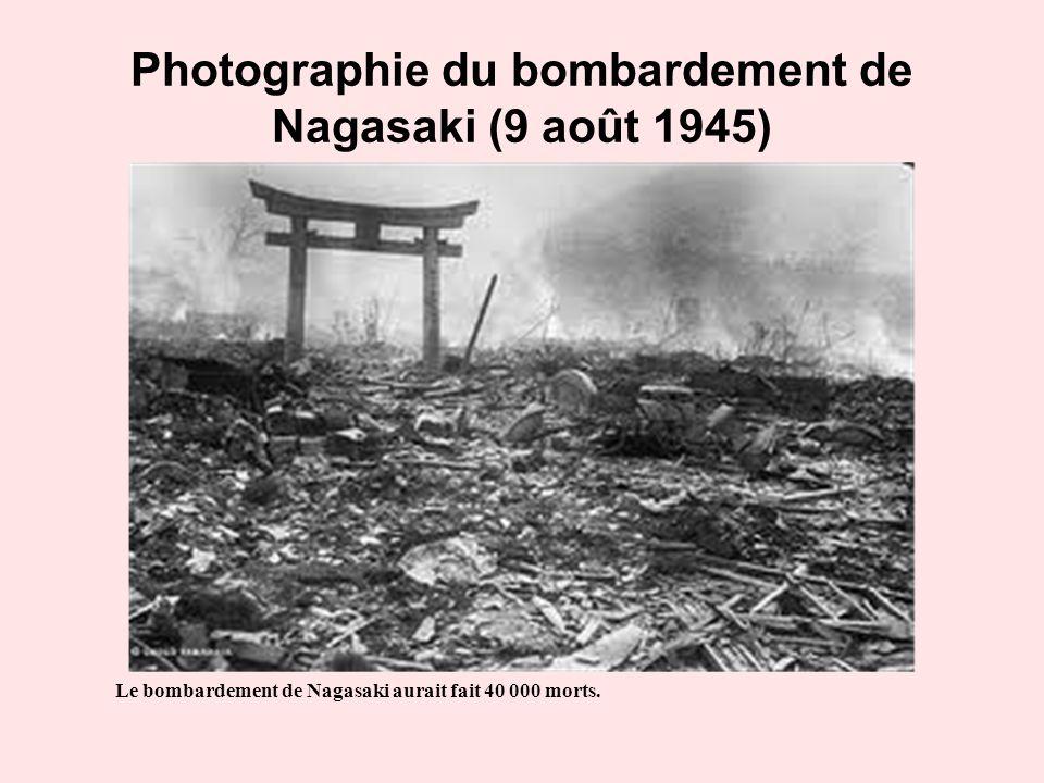 Photographie du bombardement de Nagasaki (9 août 1945)