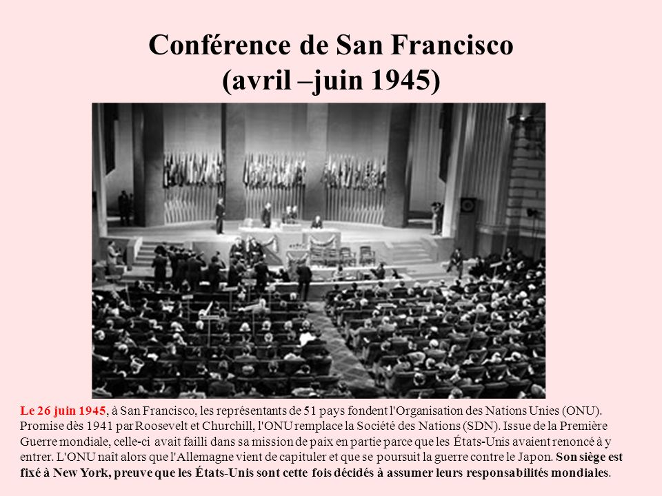 Conférence de San Francisco (avril –juin 1945)