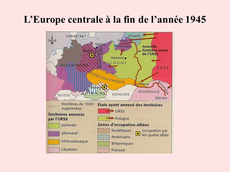 L'Europe centrale à la fin de l'année 1945