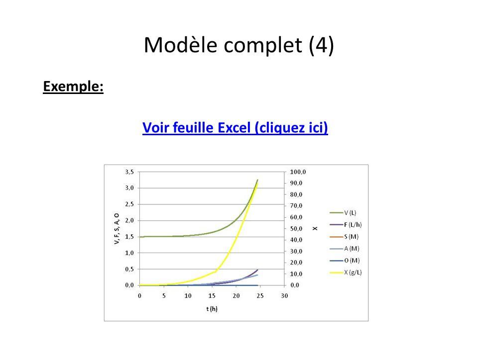 Modèle complet (4) Exemple: Voir feuille Excel (cliquez ici)