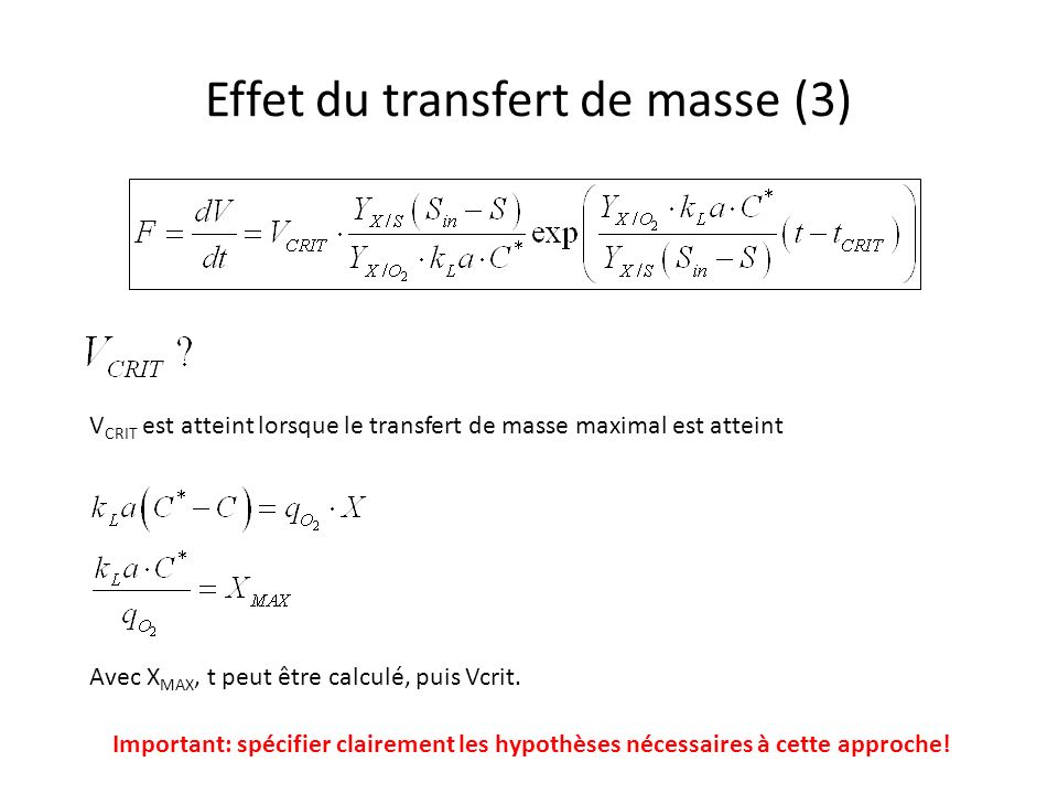 Effet du transfert de masse (3)