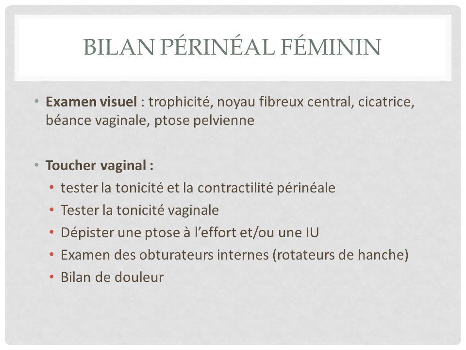 Bilan périnéal féminin