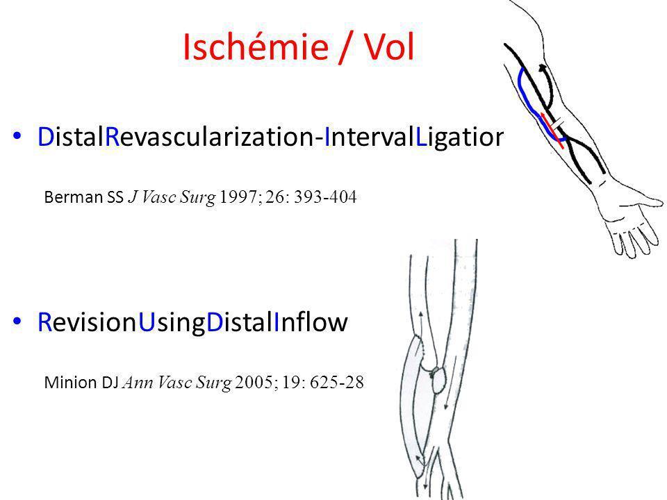 Ischémie / Vol DistalRevascularization-IntervalLigation Berman SS J Vasc Surg 1997; 26: 393-404.