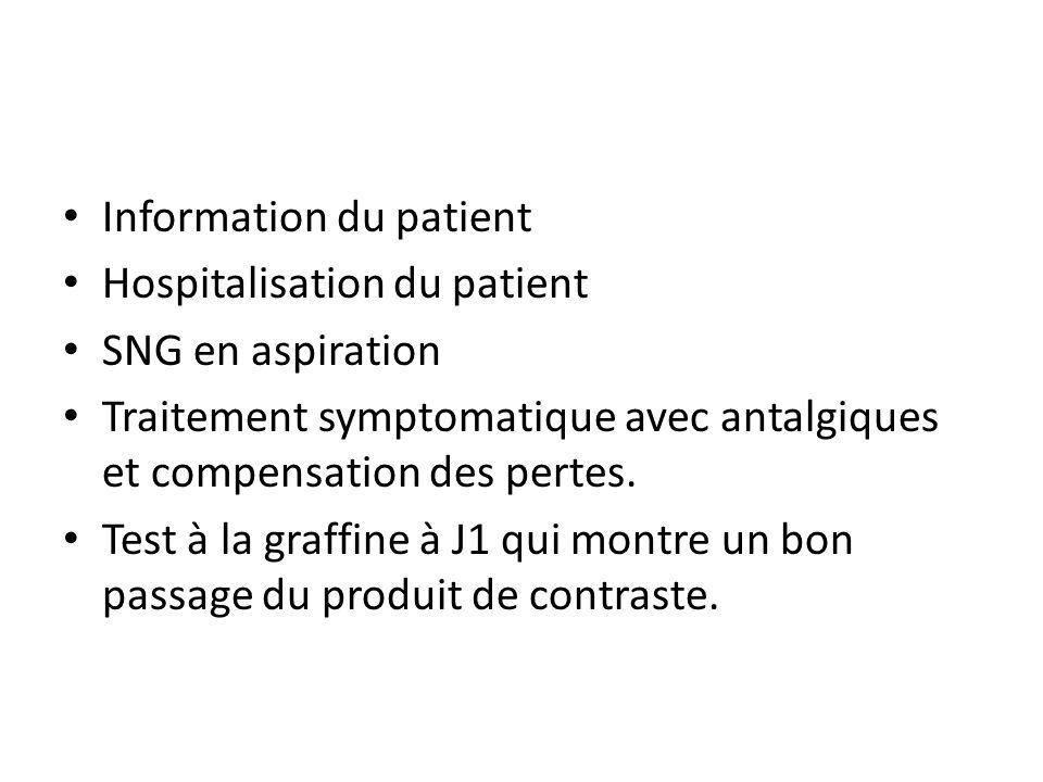 Information du patient