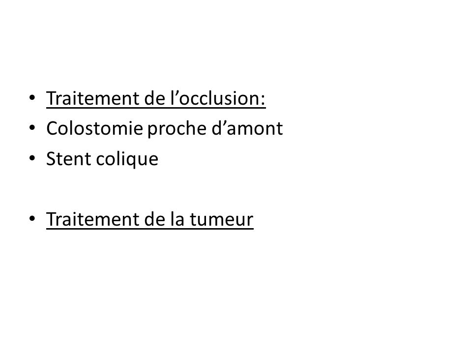 Traitement de l'occlusion: