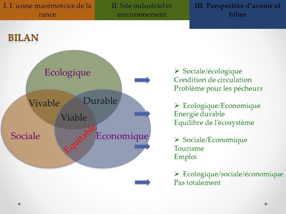 III. Perspective d'avenir et bilan