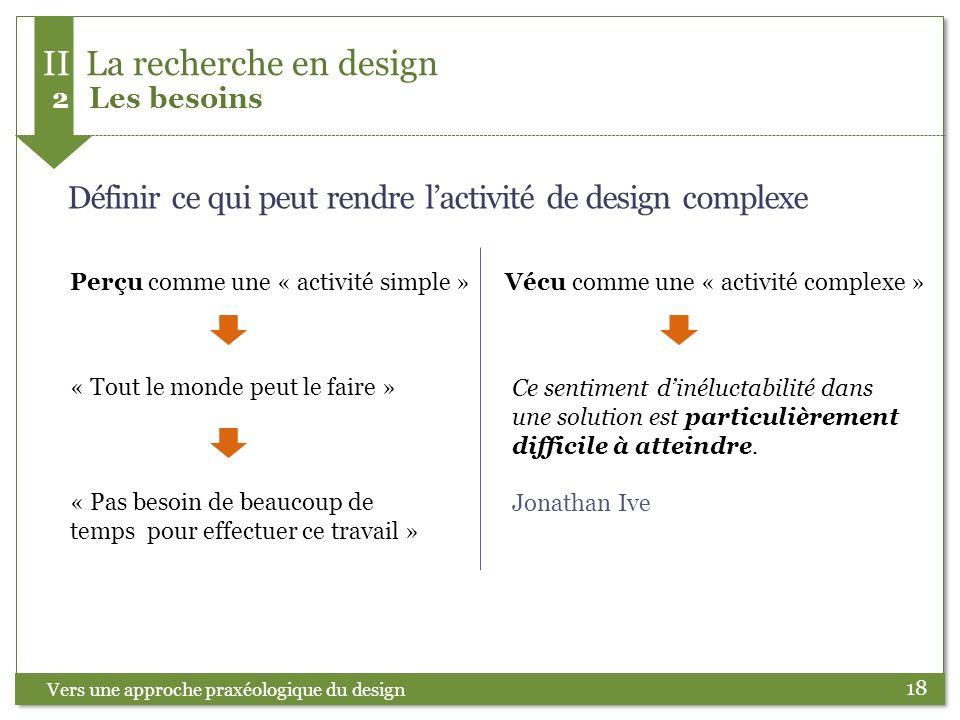 II La recherche en design 2 Les besoins