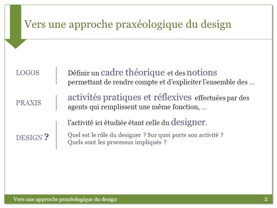 Vers une approche praxéologique du design
