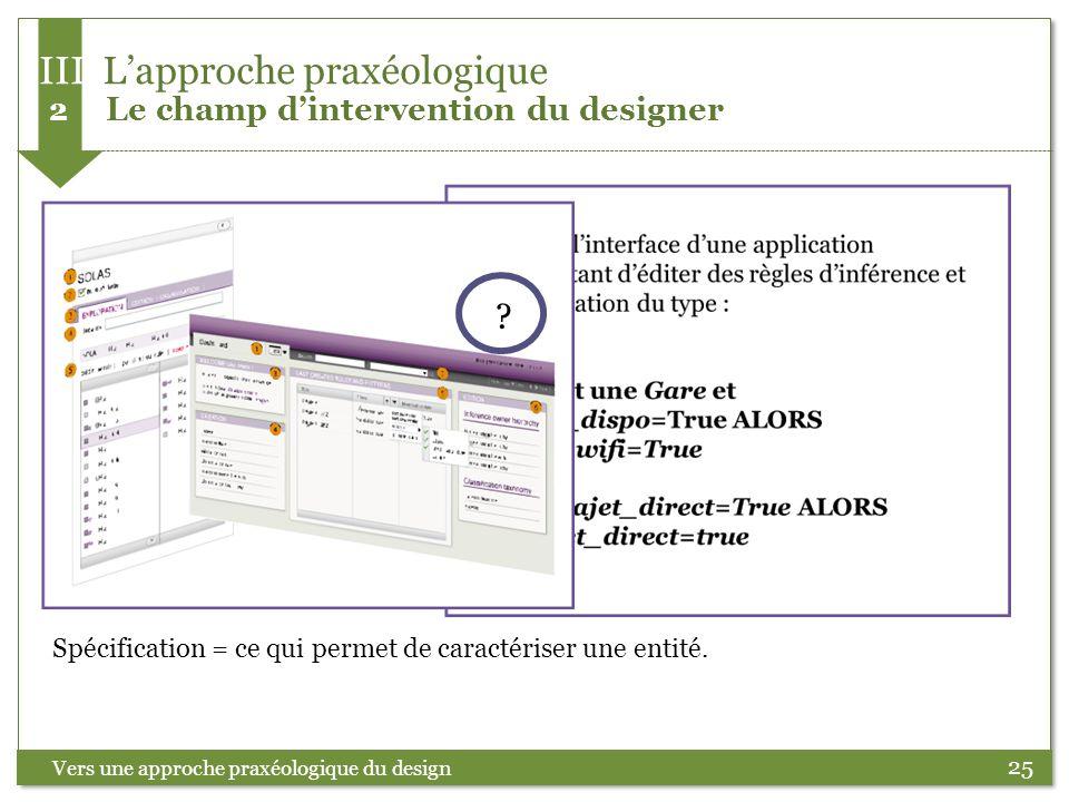 III L'approche praxéologique 2 Le champ d'intervention du designer