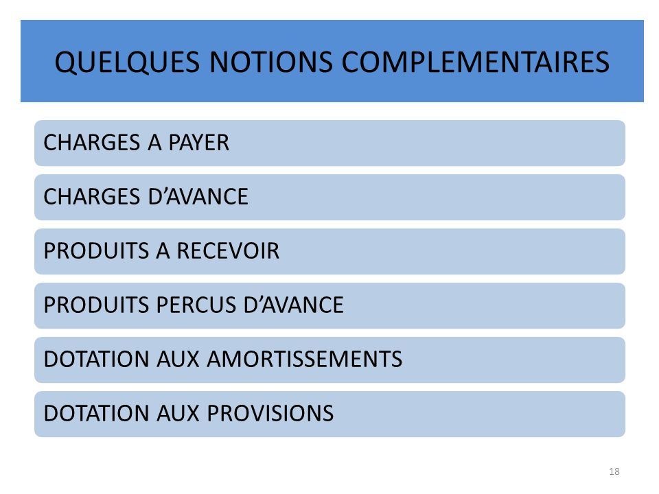 QUELQUES NOTIONS COMPLEMENTAIRES