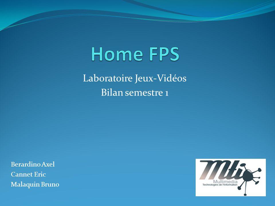Laboratoire Jeux-Vidéos Bilan semestre 1