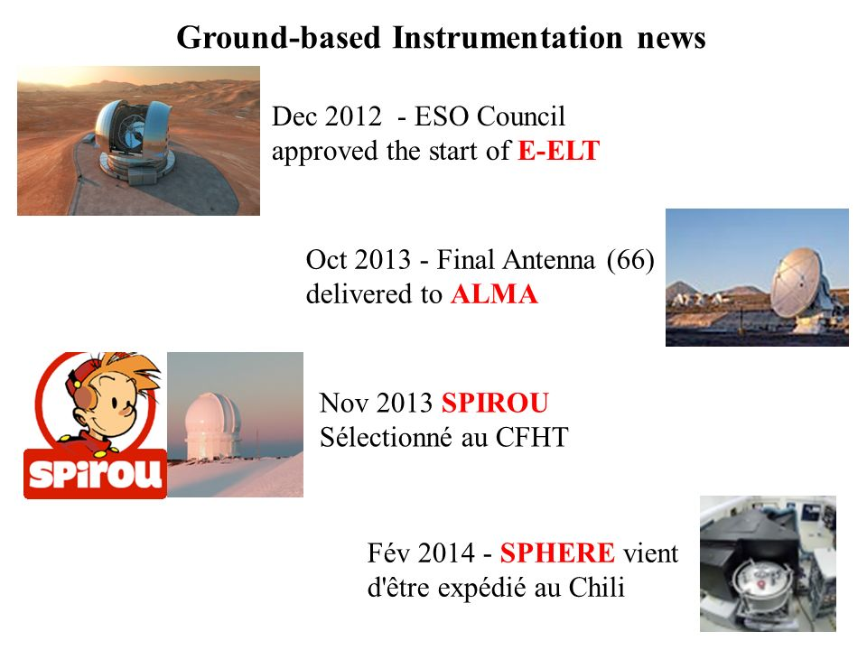 Ground-based Instrumentation news