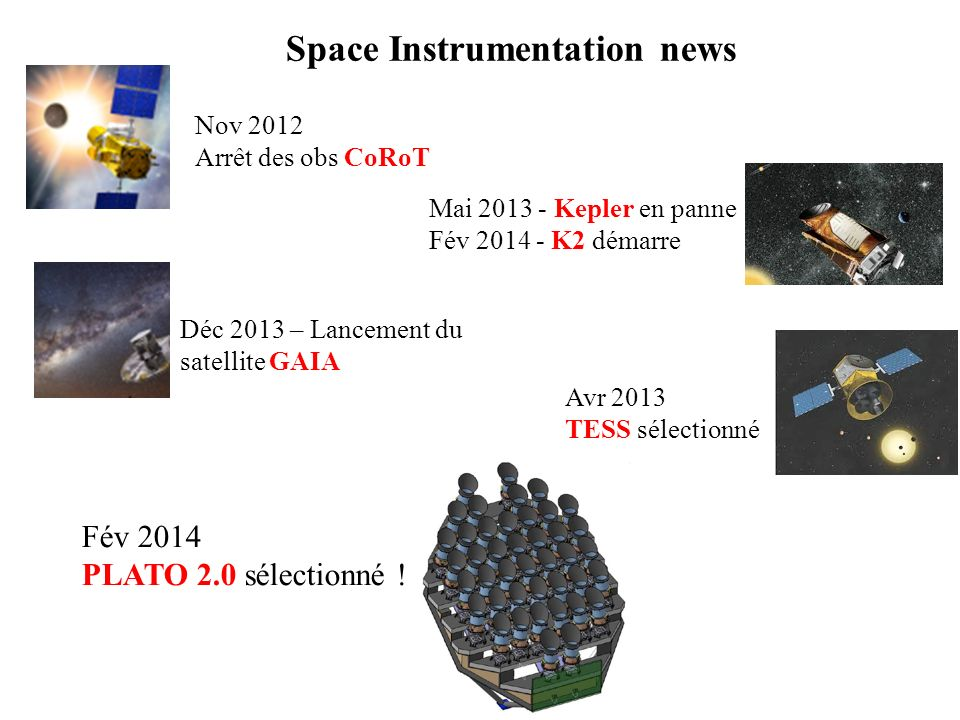 Space Instrumentation news