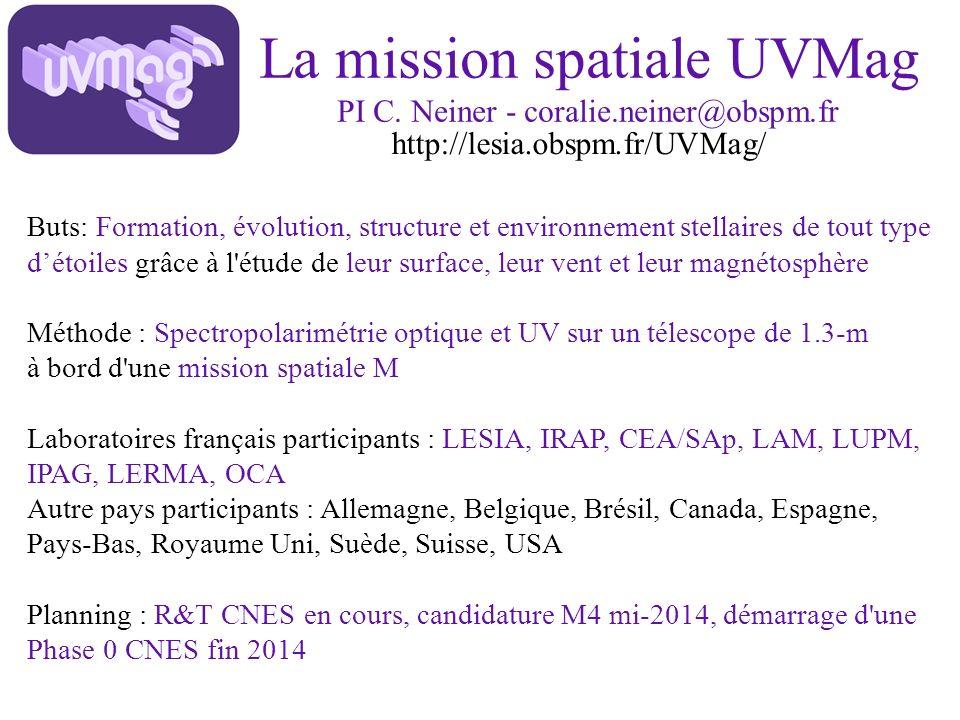 La mission spatiale UVMag