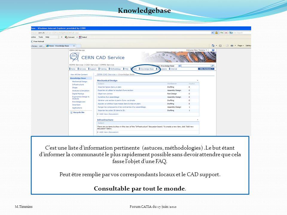 Knowledgebase Consultable par tout le monde.