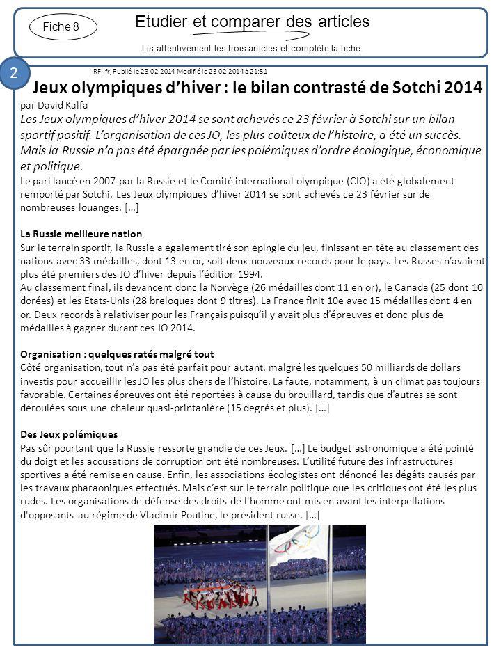 Jeux olympiques d'hiver : le bilan contrasté de Sotchi 2014