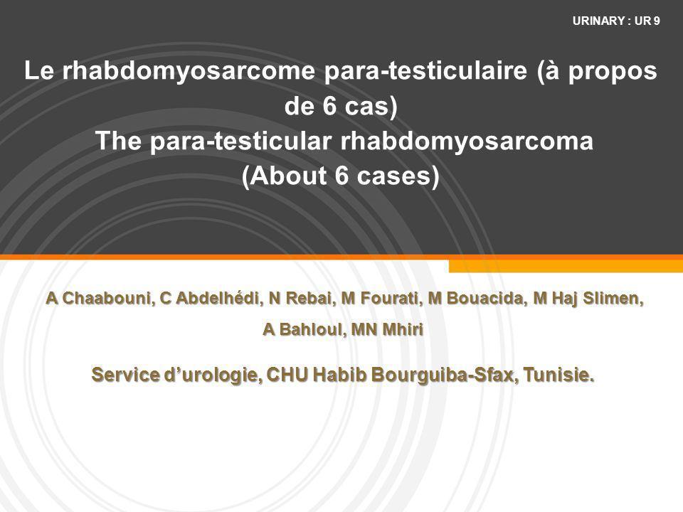 Service d'urologie, CHU Habib Bourguiba-Sfax, Tunisie.