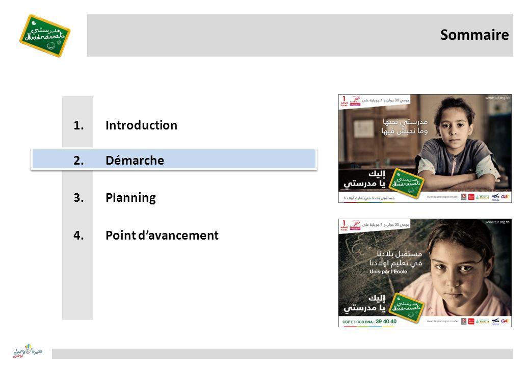 Sommaire Introduction Démarche Planning Point d'avancement
