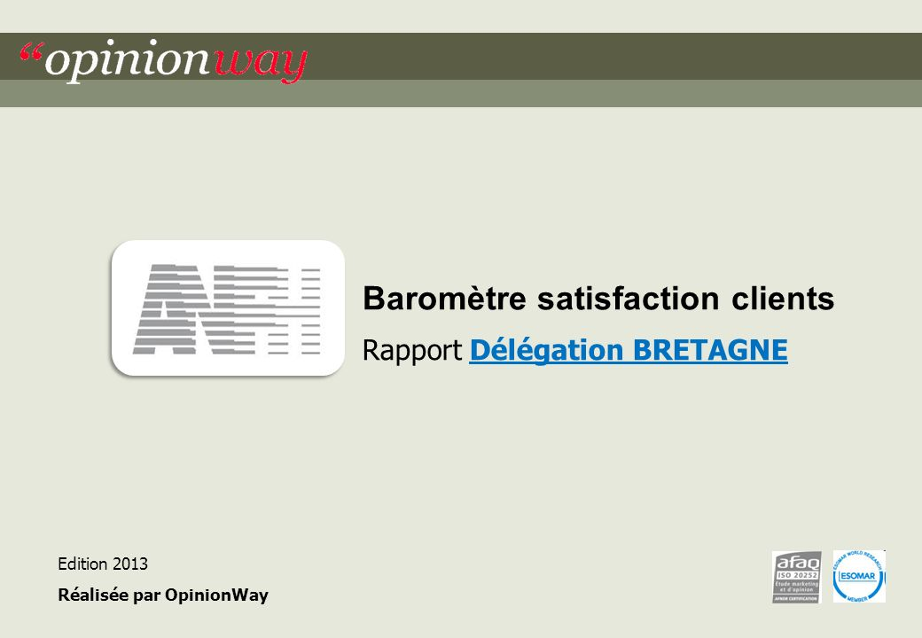 Baromètre satisfaction clients